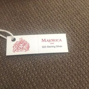 Majorica Jewelry - Majorica Pearl Elastic/Sterling Silver Bracelet